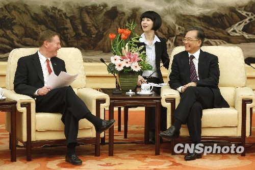 温家宝:中国将加大进口美国产品