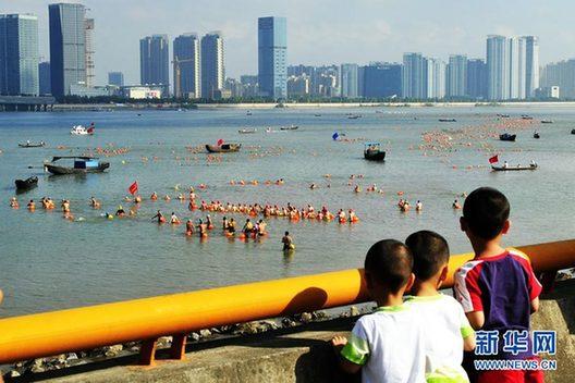 杭州市人口-杭州千人横渡钱塘江