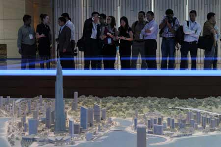 主流媒体看广东参观珠海横琴十字门商务区
