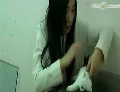 视频截图 成都长发美女将活兔子坐死