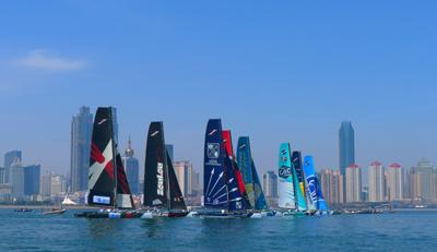 2012国际极限帆船系列赛青岛站比赛结束