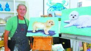 美国/美国前总统小布什变身画家