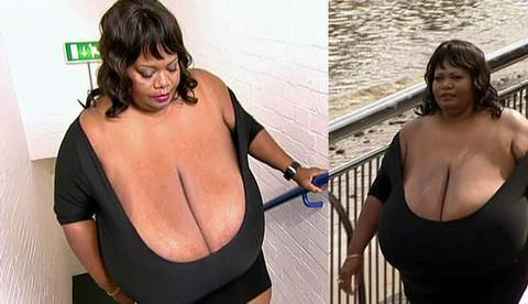美女子创全球最大自然乳房记录