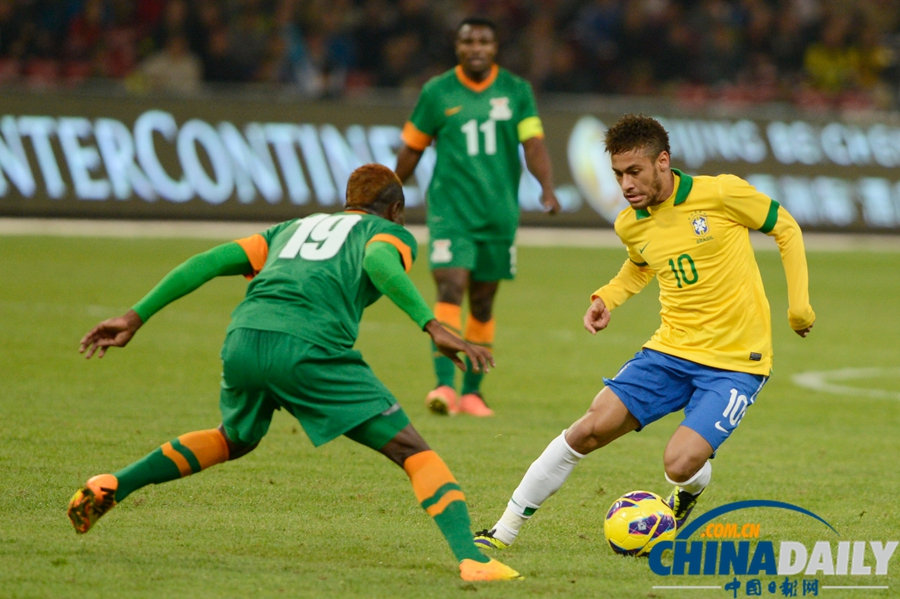 国际足球友谊赛巴西_国际足球友谊赛:巴西2-0胜赞比亚[3]- 中国在线