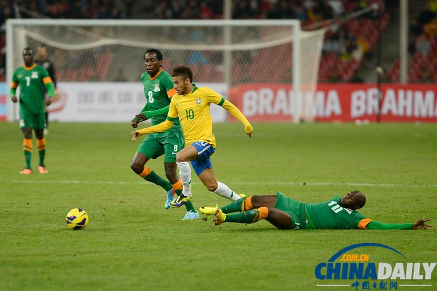国际足球友谊赛巴西_国际足球友谊赛:巴西2-0胜赞比亚[2]- 中国在线