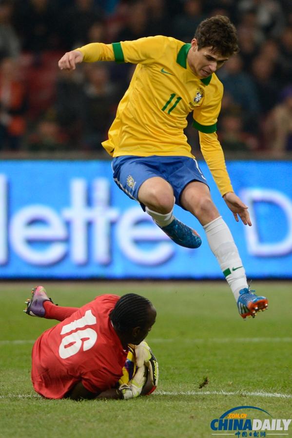 国际足球友谊赛巴西_国际足球友谊赛:巴西2-0胜赞比亚[8]- 中国在线