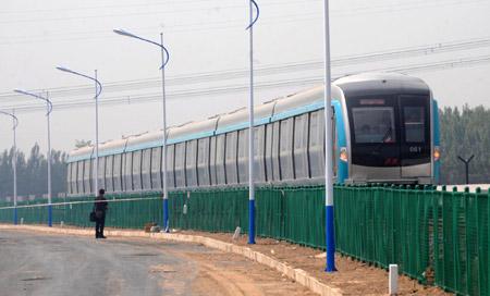 北京地铁大兴线试车图片