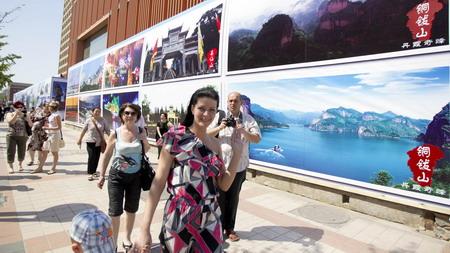 江西风景独好图片摄影展在王府井公共艺术大道