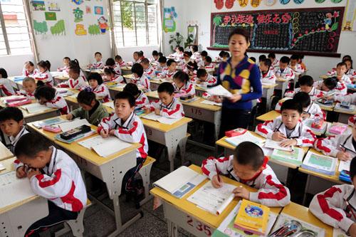 十万外来工子女晋江喜上学上海的点上课几小学图片