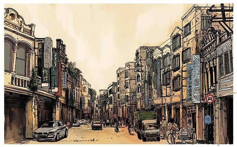 建筑图片 手绘图