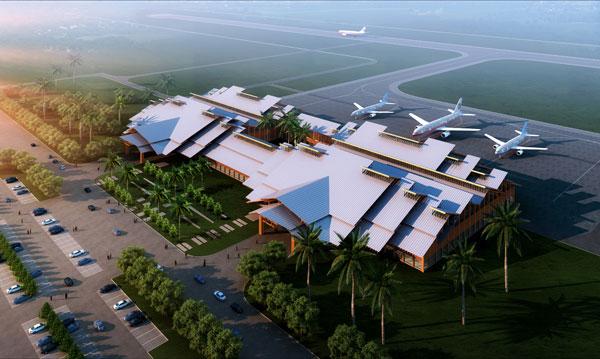 海口美兰机场_海口美兰机场新建国际航站楼主体顺利施工
