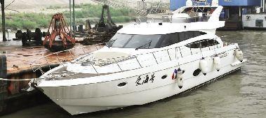 价值650万私人游艇抵达武汉 长18米宽5米