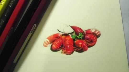 武汉理工大女生手绘美食走红网络 被称文艺范吃货