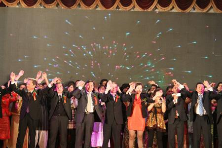 南通市举行外国友人迎新年招待会