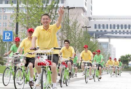 南通开发区在苏中、苏北率先建立公共自行车系统