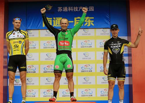 乌克兰籍选手尤瑞获环太湖国际公路自行车赛南通站冠军