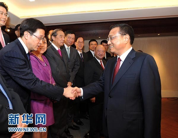 李克强会见香港特区行政,立法,司法机构负责人
