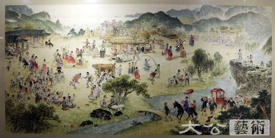 朝鲜美术精品亮相丹东图片