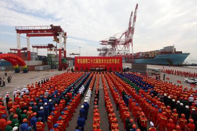 青岛港集团一年一度的职工技术大比武拉开序幕