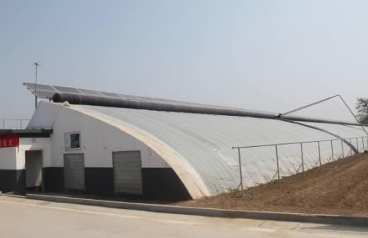 力诺太阳能电力集团承建的济南首家光伏农业大棚示范