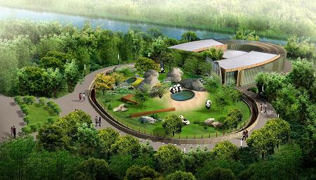 图片说明:上海野生动物园豪华型熊猫馆效果图