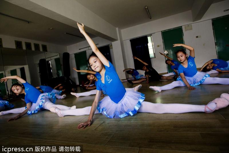 图片故事 城中村孩子美丽芭蕾梦图片