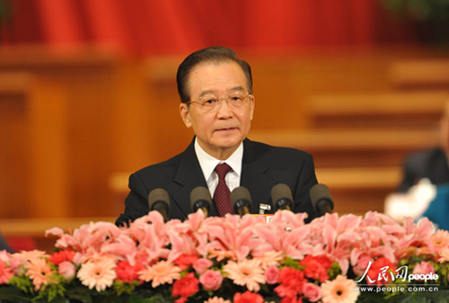 ...温家宝总理代表国务院向大会作政府工作报告.   温家宝总理...