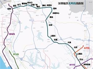 深圳地铁6号线规划线路图-深圳地铁6号线向民资开放