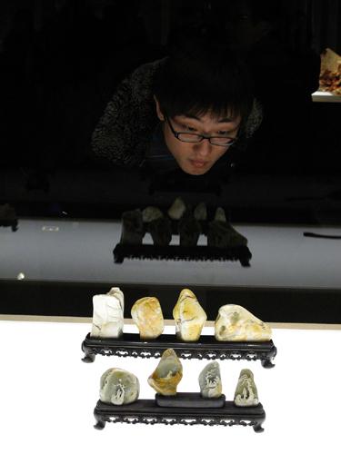 国家博物馆举办陈礼忠寿山石雕艺术个展-中
