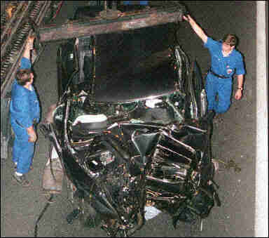 princess diana crash pics. The car Princess Diana and
