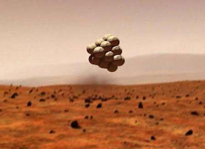 mars landing with balloons - photo #2