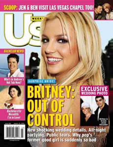 The Current Cover Of US Weekly Magazine Features Singer Britney Spears On And Exclusively As An Inset First Photo