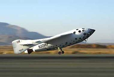 Private rocket plane to launch from desert