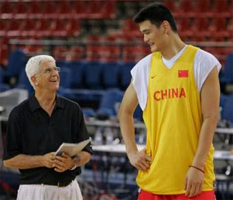 yao ming realizes his olympic dream