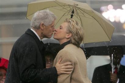 President Bill Clinton and his wife U.S. Sen Hillary Rodham Clinton ...