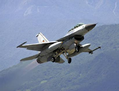 This August 17, 2004 file photo shows an F-16 fighter jet taking off.