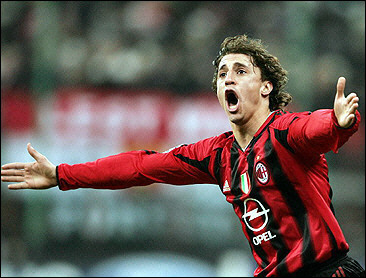 AC Milan S Argentinian Forward Hernan Crespo Celebrates After Scoring