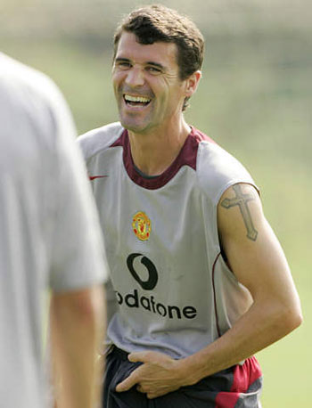 The tattoos of stars. Updated: 2005-10-17 17:04. roy keane. Ireland skipper
