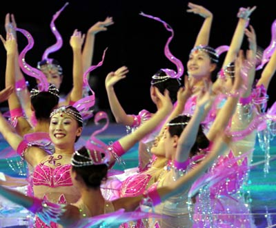 Chinese Girl on Chinese Girls Perform At The Closing Ceremony Of The 10th National