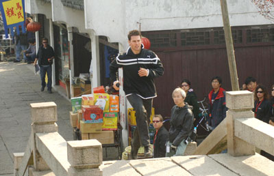 Tom Cruise films Mission Impossible III in China Tom Cruise