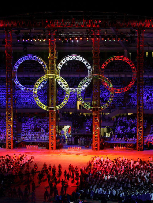Artists Perform During The Opening Ceremony Of Torino 2006 Winter Olympic Games In Turin Italy February 10 Around 2600 Athletes And 650 Judges