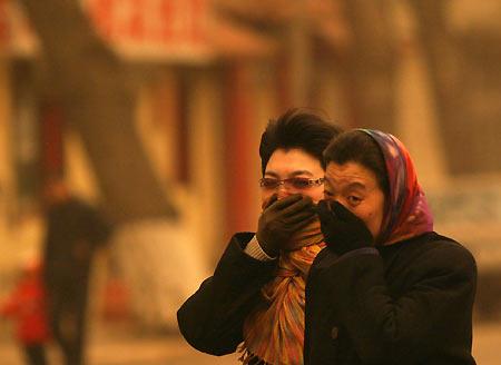 Sand storm hits Changchun