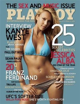 of the march 2006 issue of playboy magazine in this undated publicity