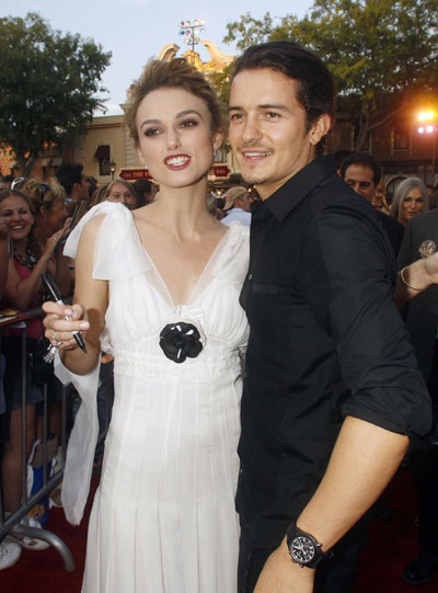 orlando bloom pirates. co-star Orlando Bloom pose