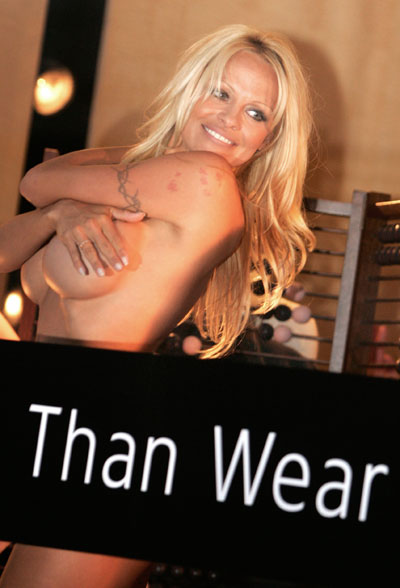 Pamela Anderson Gets Naked For Fur Free Fashion
