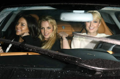 Britney And Paris Hilton Lindsay Lohan