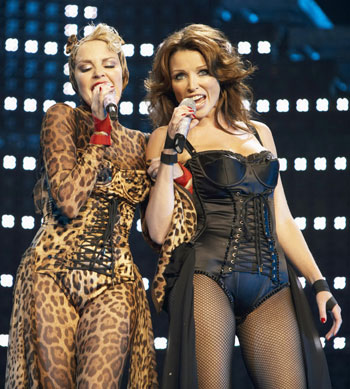 Kylie Minogue Performs During Show Homecoming Tour