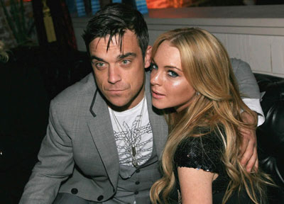 Lindsay Lohan and Robbie Williams free stock images ... free stock images