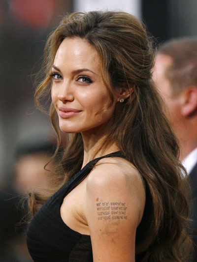 King of tattoo design angelina jolie tattoos