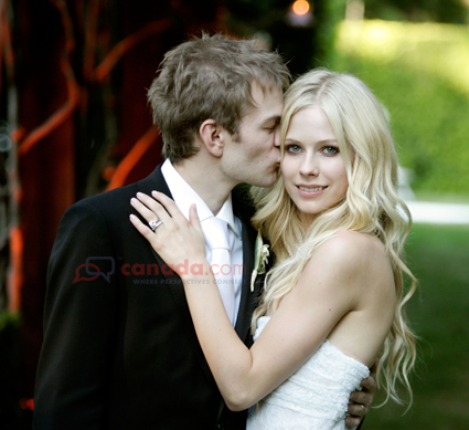 avril lavigne marriage photos